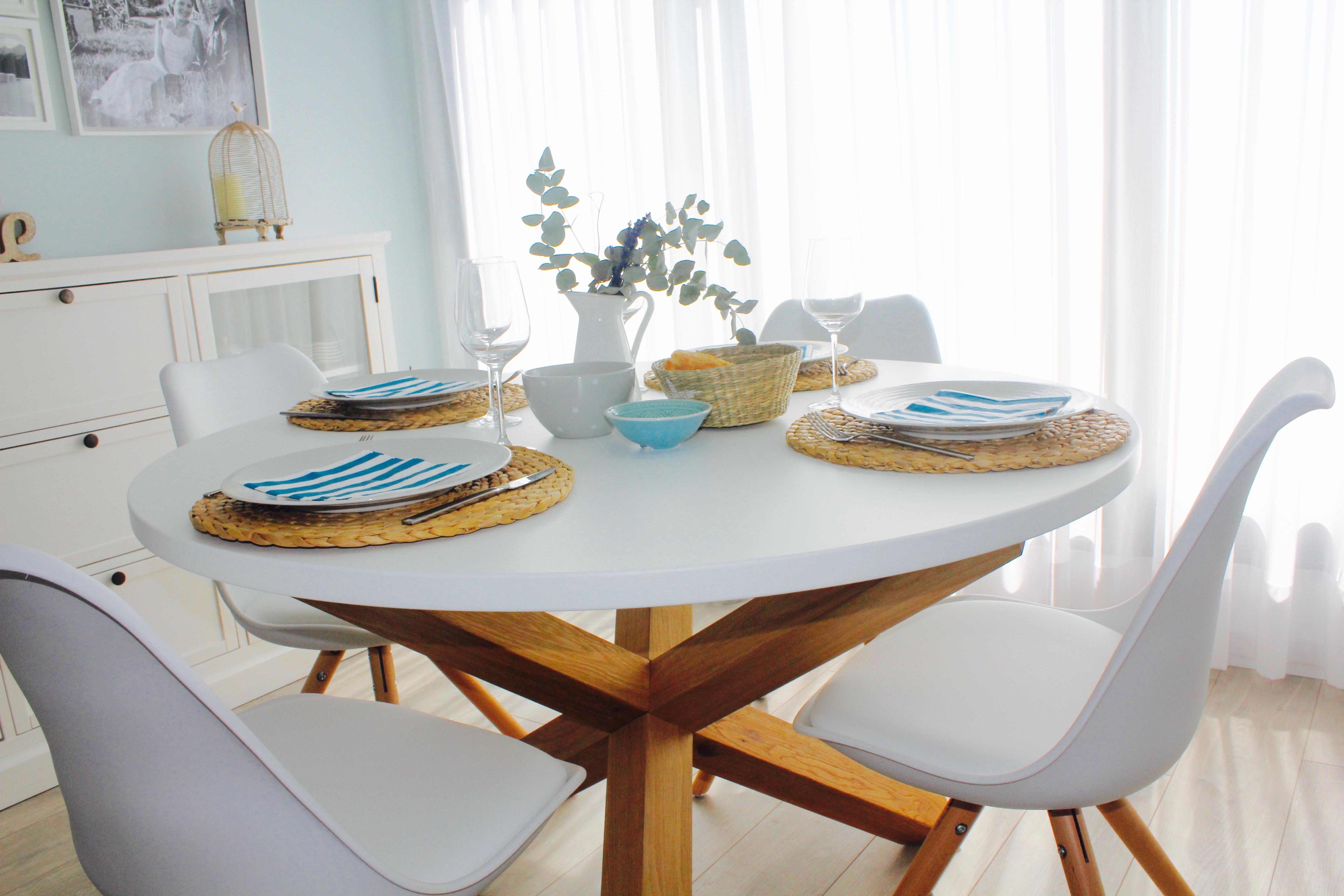 Mesa Comedor Blanca Ikea. Beautiful Y Simple Combinacin De Madera ...